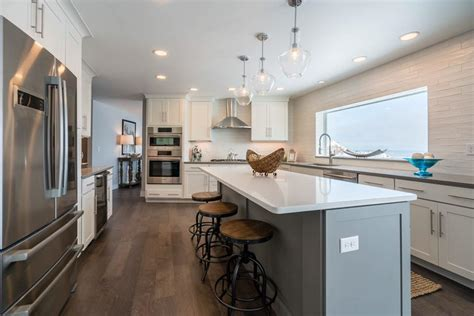 residential kitchen elongated subway tile modern clean