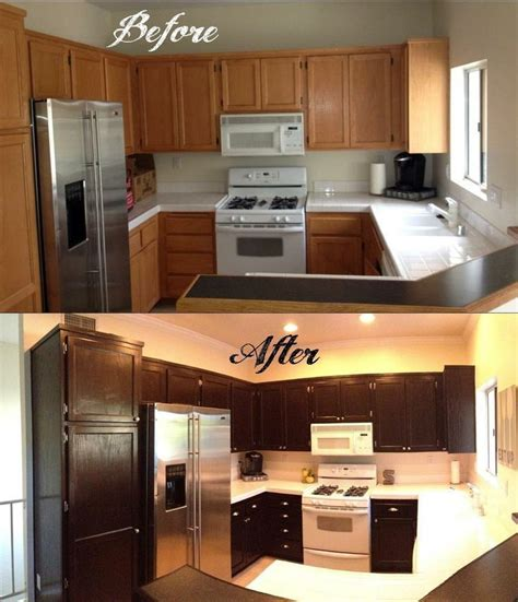 refinishing stained kitchen cabinets how to gel stain your kitchen cabinets when my husband and