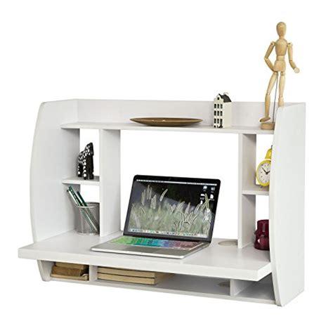 bureau avec etagere integree sobuy 174 fwt18 w table murale bureau avec 201 tag 232 re int 233 gr 233 e armoire de rangement murale blanc
