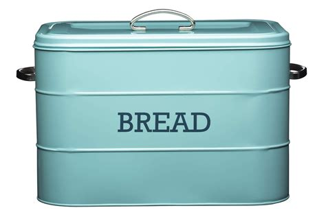 living nostalgia vintage blue bread bin bread bins
