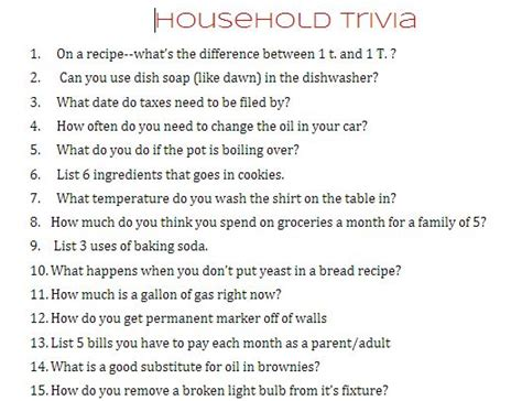 household trivia and young woman's printables - A girl and