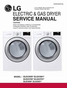 Lg Dle3500 Dle3500w Dlg3501w Dryer Service Manual And