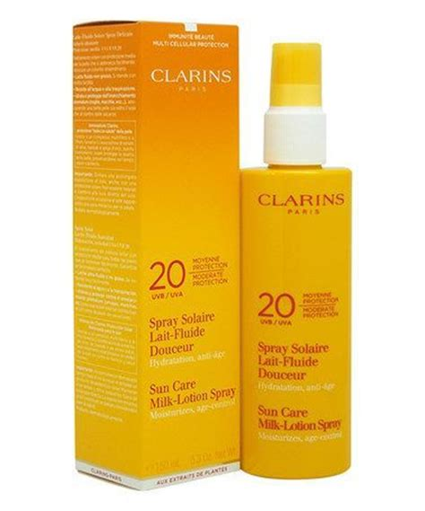 clarins sun care milk lotion spray spf20 reviews photo makeupalley