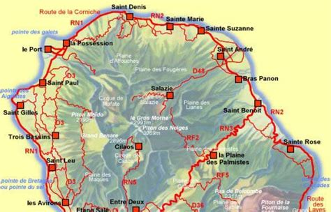 La Réunion Carte Géographique Monde by La R 233 Union Carte Du Monde Voyages Cartes