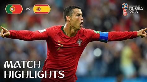 Portugal Spain Fifa World Cup Russia Match
