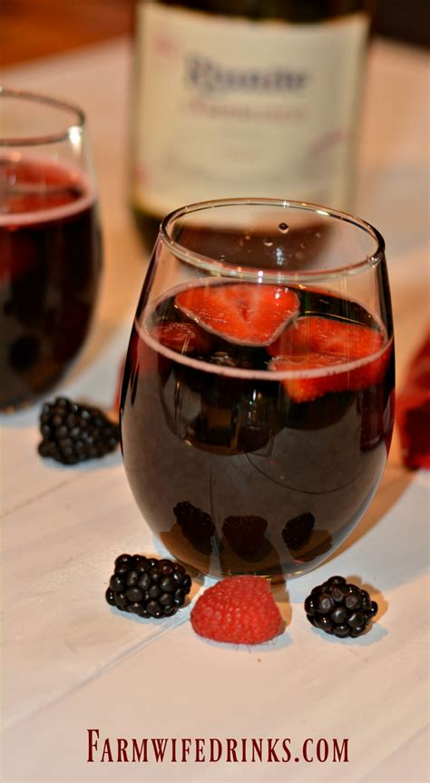 olive garden berry sangria  farmwife drinks