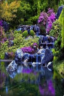 Beautiful Landscape Waterfalls and Flowers