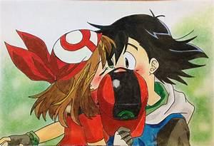 Pokemon Ash Hugs May Muscle Images | Pokemon Images