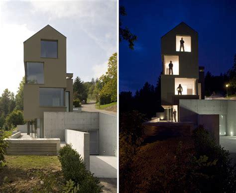 narrow lot house plans narrow  vertical  swiss