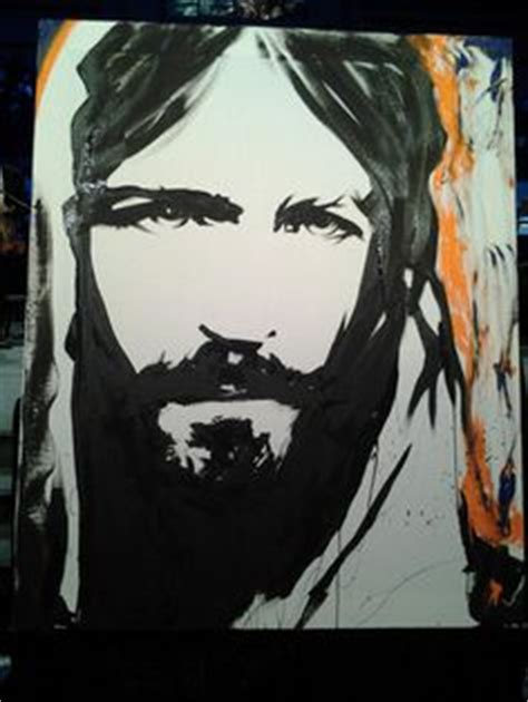 Abstract Black And White Jesus Painting by Painting Of Jesus By The Jesus Painter M U R A L