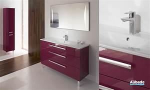 Meuble Salle De Bain Aubade : meuble salle de bains fuchsia brillant essento espace aubade ~ Dallasstarsshop.com Idées de Décoration