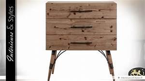 Commode Bois Et Metal : commode industrielle vintage en bois et m tal int rieurs styles ~ Teatrodelosmanantiales.com Idées de Décoration