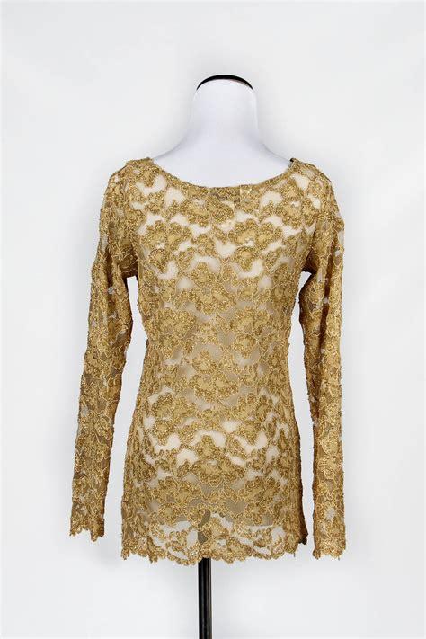 gold blouse gold lace blouse black blouse