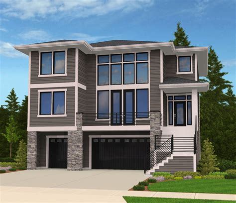 modern house plan for front