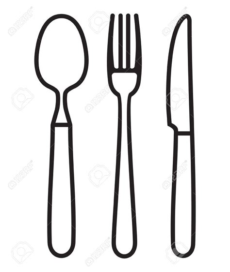 fork and knife clipart black and white knife clipart outline pencil and in color knife clipart