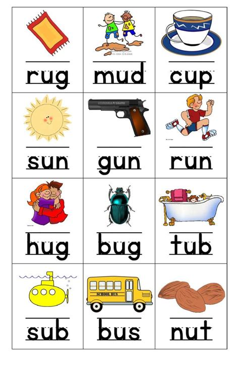 flashcards u to teachers 3 | flashcards short u page 001
