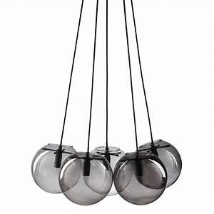 Suspension Boule En Verre : suspension 5 boules en verre orbe maisons du monde ~ Melissatoandfro.com Idées de Décoration