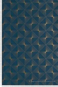 Papier Peint Bleu Canard : papier peint lines bleu canard spaces de cas lio ~ Farleysfitness.com Idées de Décoration
