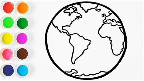 Como Dibujar Y Colorear La Tierra