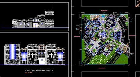 church project dwg full project  autocad designs cad
