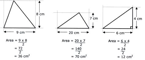 How To Area Of A Triangle Area And Perimeter Ks 3 Revision Notes