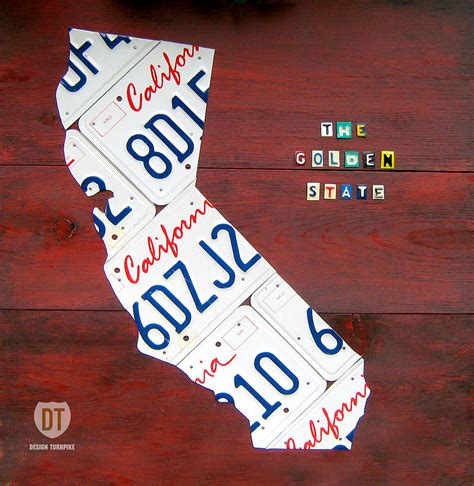 california license plate designs california license plate map photograph by design turnpike