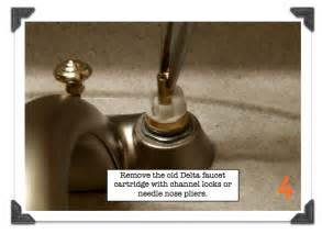 remove the old delta faucet cartridge with channel locks