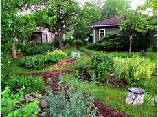 Front Yard Rain Garden and Berm Midwest Permaculture