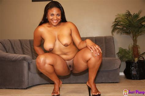 Phat Ass Ebony Chick Poses Totally Naked Before Taking Big Black Dick In Her Hole