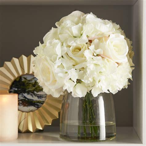 Glass Vase Arrangements by Garden Hydrangea And Arrangement In Glass Vase