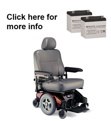 Pronto Power Chair Batteries by Invacare Pronto M94 Power Wheelchair Batteries Sp12 55