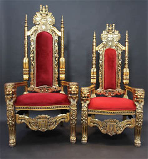 wedding chair king throne groom chairs crowns