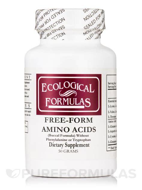 free form amino acid buccal formula w o phenylalanine or