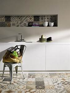 tendance quotcarreau de cimentquot on pinterest cuisine tile With carreau deco