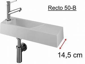 Lave Main 15 Cm Profondeur : lave mains design en r sine min rale blanche extra fin ~ Melissatoandfro.com Idées de Décoration