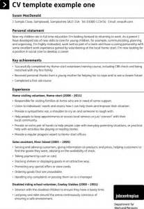 Excel Curriculum Vitae Template by Blank Cv Template For Excel Pdf And Word