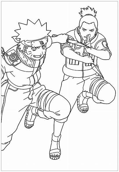 Naruto Coloriage Coloring Shikamaru Manga Coloriages Children