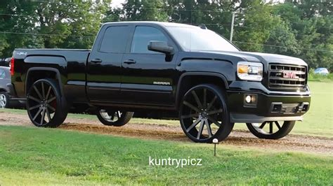 black  black gmc sierra dub wheels coming  youtube