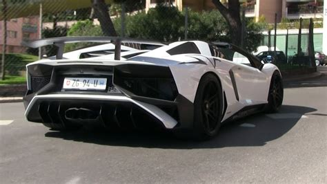 lamborghini aventador sv roadster with insane capristo exhaust lamborghini aventador sv roadster w capristo carbon exhaust in monaco loud revs