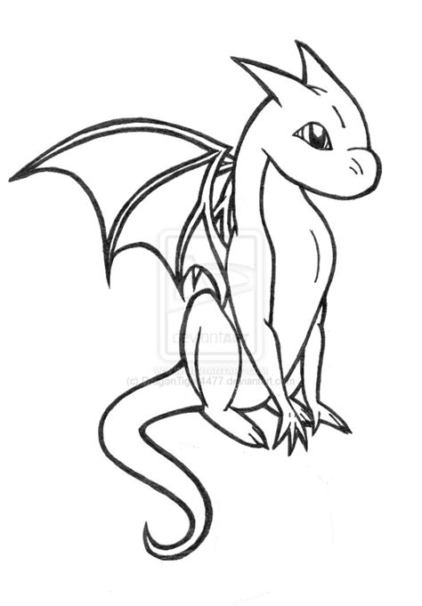 baby dragon coloring pages    print
