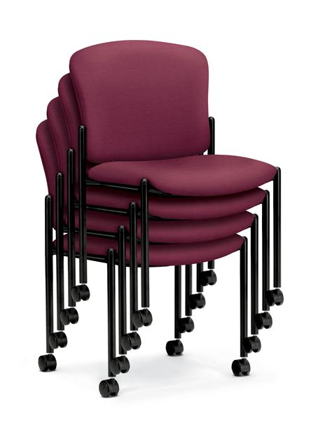 hon pagoda armless stacking chair with casters arenson