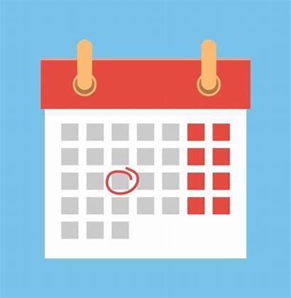 Calendar Clip Date Mark Vector Important Calander