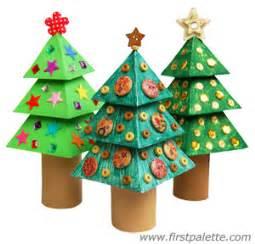3d paper christmas tree craft kids crafts firstpalette com