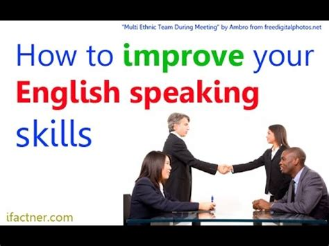 How To Improve English Speaking Skills  English Conversation Lesson Youtube