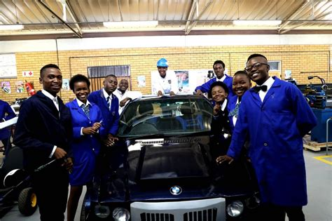 soshanguve technical college students reveal modified bmw