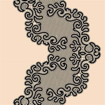Lace Pattern Ribbon Template Seamless Vector Abstract