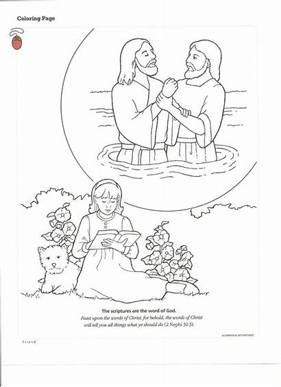 Baptism Coloring Pages Lds Printables Jesus Primary