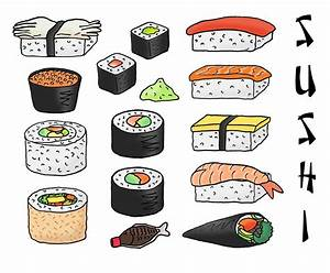 Sushi clipart cartoon - Pencil and in color sushi clipart ...
