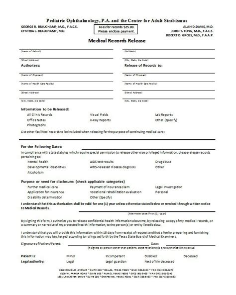 medical disclaimer form 30 medical release form templates free template downloads