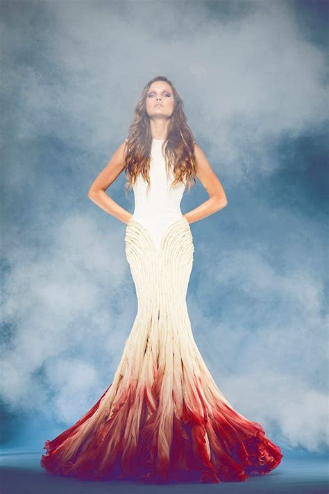 white  ombre wedding gowns brit